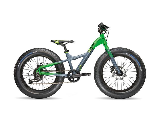 s'cool XXfat 20 9-S - Vélo enfant - gris/vert